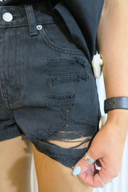 Jenn shorts ripped vintage black