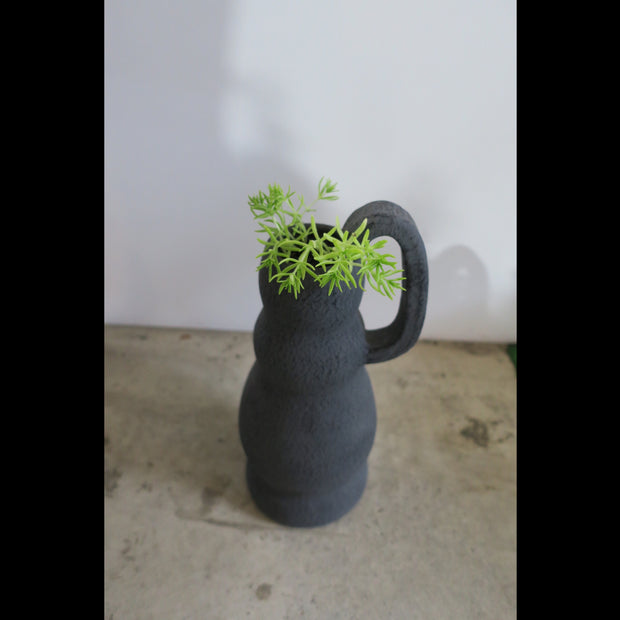 Sicilian Ragusa Jug-Charcoal with plant 1120