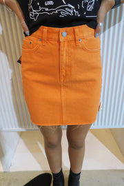 Mallory skirt stone orange