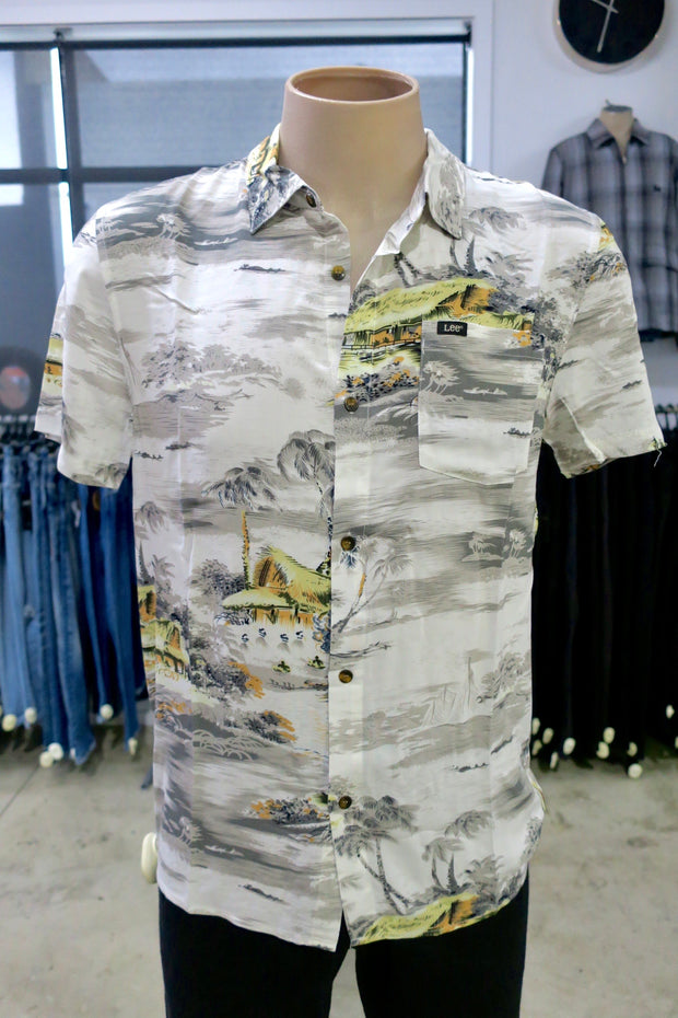 Busan Beach S/S Shirt -Vintage White 1020