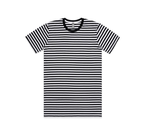 Staple Stripe Tee Black/White -1020