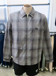 Neat Check Zip Up LS Shirt 620