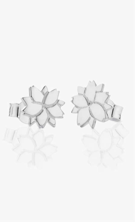 Cherry Blossom Stud Earrings Pair 620