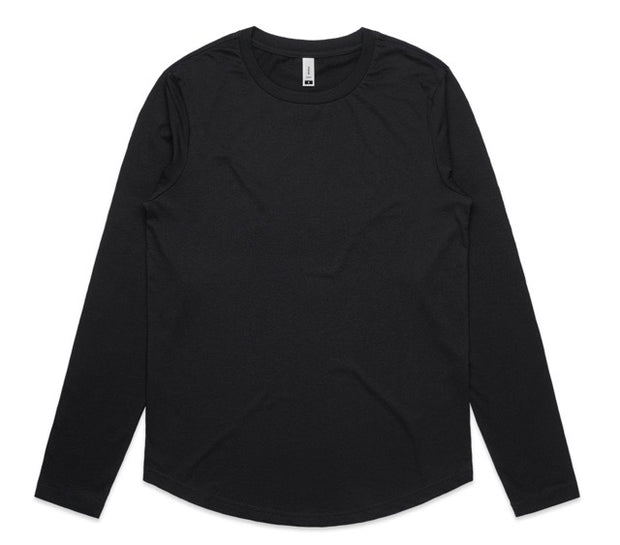 4055 Curve Long Sleeve Tee Black