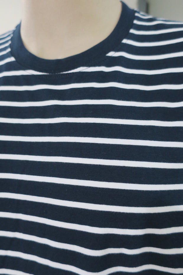 Staple Stripe Navy/White Tee 819