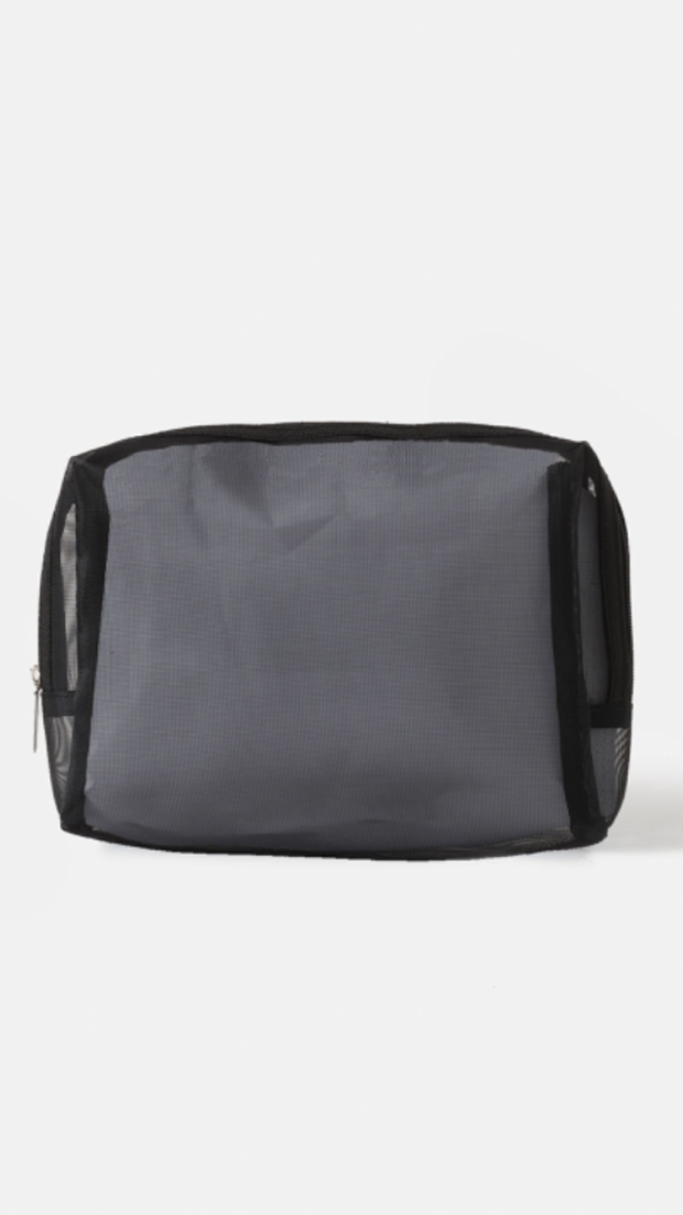 Mesh Wash Bag Black Large - 24x6x16cm 1120