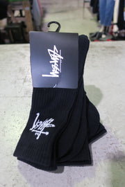 Graffiti black crew sock 3pk