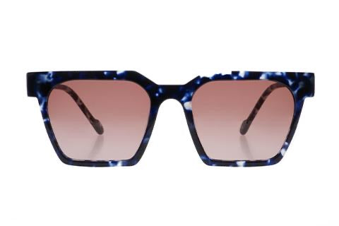 Useage Large Blue Tort Sunglasses-1020
