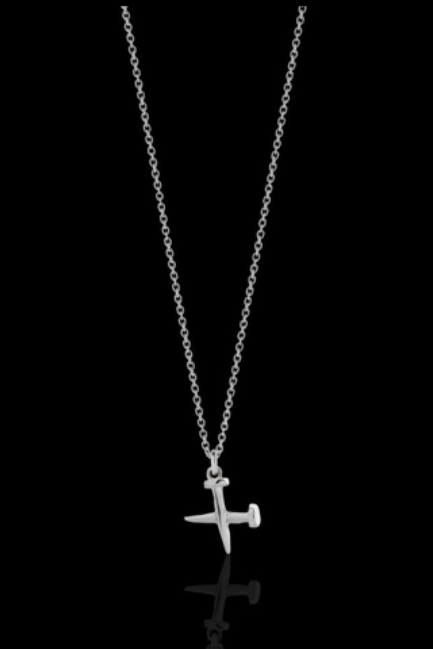 Cross Nail Charm Necklace