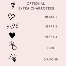 Load image into Gallery viewer, Personalized custom rose gold foil heart balloon