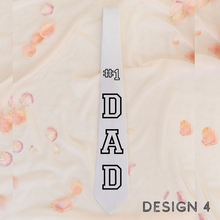 Load image into Gallery viewer, Personalized Custom mens neck ties Fathers day gift