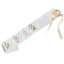Load image into Gallery viewer, Bride to Be bachelorette hen party sash