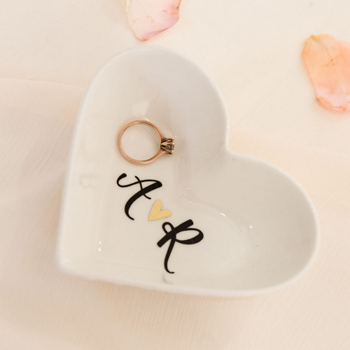 Heart custom ring dish