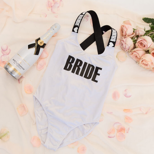 Bride Bridesmaid Custom Swimsuit elastic straps