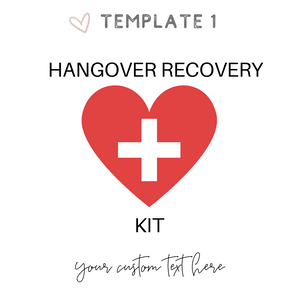 Hangover recovery kit ideas