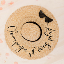 Load image into Gallery viewer, Personalized pom pom sun hat