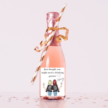 Load image into Gallery viewer, Personalized champagne wine labels Best friend gift ideas