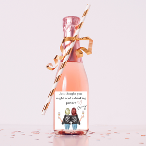 Personalized champagne wine labels Best friend gift ideas