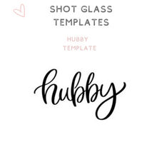 Load image into Gallery viewer, Custom Bridal Party Shot Glasses Shooter glass Hubby