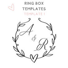 Load image into Gallery viewer, Custom acrylic ring boxes wedding ring box templates