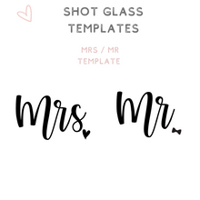 Load image into Gallery viewer, Custom Bridal Party Shot Glasses Shooter glass Mr Mrs