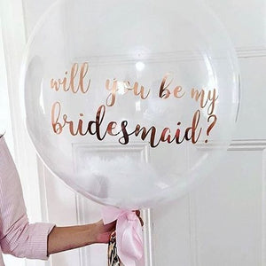 Custom text Clear Bubble Balloons