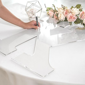 Acrylic Perspex Letter cut out wedding guest book