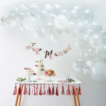 Load image into Gallery viewer, white balloon arch