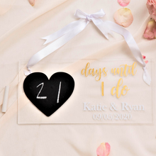 Load image into Gallery viewer, Personalized wedding acrylic countdown bridal gift