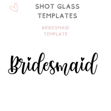 Load image into Gallery viewer, Custom Bridal Party Shot Glasses Shooter glass Bridesmaid