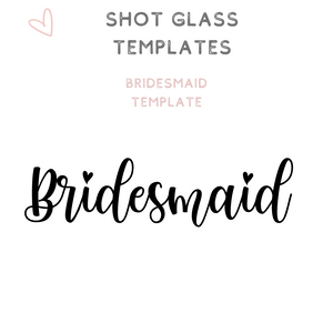 Custom Bridal Party Shot Glasses Shooter glass Bridesmaid