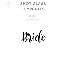 Load image into Gallery viewer, Custom Bridal Party Shot Glasses Shooter glass Bride
