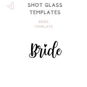 Custom Bridal Party Shot Glasses Shooter glass Bride