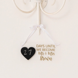 Personalized wedding acrylic countdown bridal gift