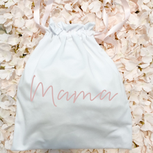 Load image into Gallery viewer, Custom text cotton drawstring bag pouch