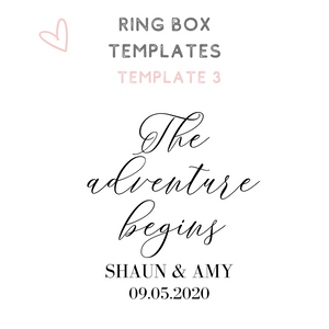 Custom acrylic ring boxes wedding ring box templates