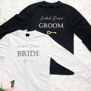 Corona Bride and Groom Lockdown Quarantine t-shirt