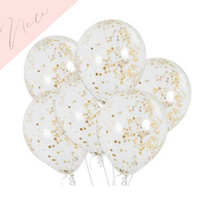 Confetti filled clear balloons - 12 inch latex
