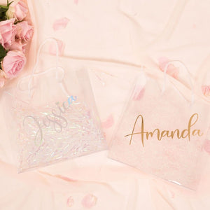 Clear PVC personalized gift bags