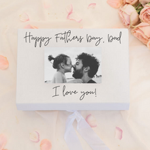 Load image into Gallery viewer, Fathers day ribbon gift box personalized