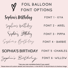 Load image into Gallery viewer, Personalized custom rose gold orb balloon