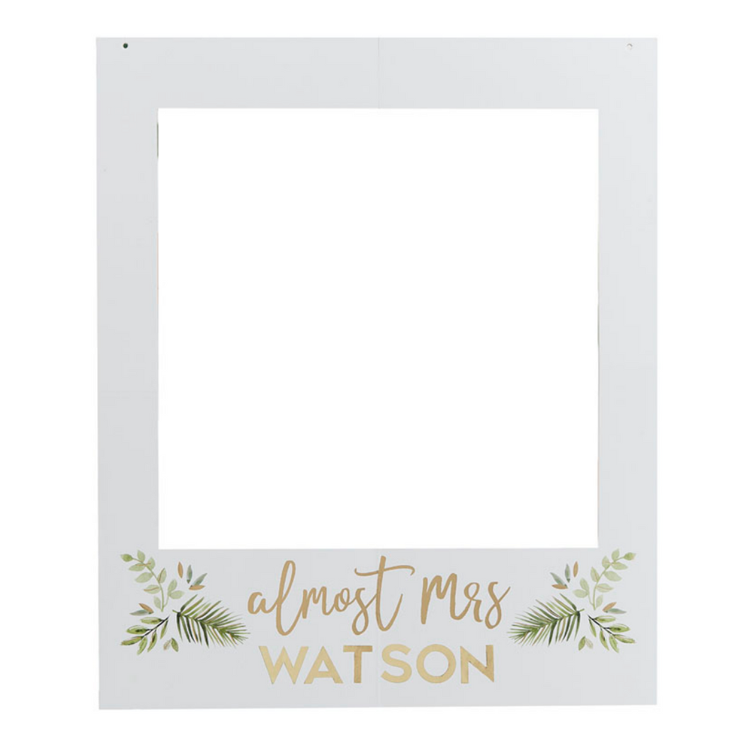 Photo booth customisable selfie frame