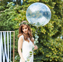 Load image into Gallery viewer, clear orb balloon with foliage tail