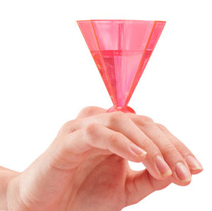 Diamond ring pink party idea shot glass