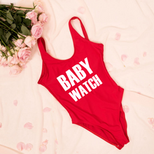 Load image into Gallery viewer, Baby watch pregnancy announcement Baywatch swimsuit