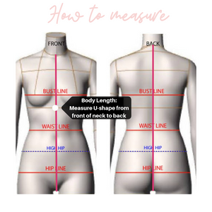 Bride Bridesmaid Custom Swimsuit elastic straps Sizing guide How to measure