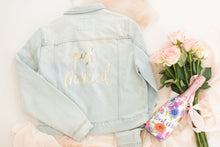 Load image into Gallery viewer, Customised denim jacket, Just Married bridal jacket