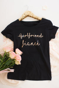 Girlfriend strike through Fiance t-shirt