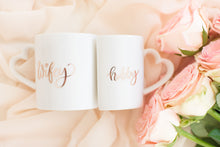 Load image into Gallery viewer, Hubby Wifey coffee tea mugs