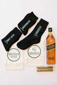 Groom Groomsman Best Man personalised socks wedding gifts